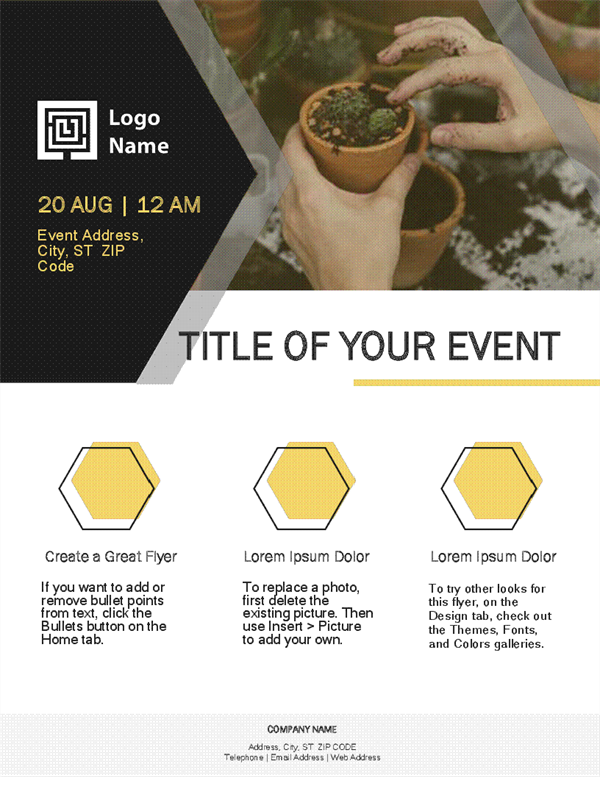 Small business flyer (gold design)