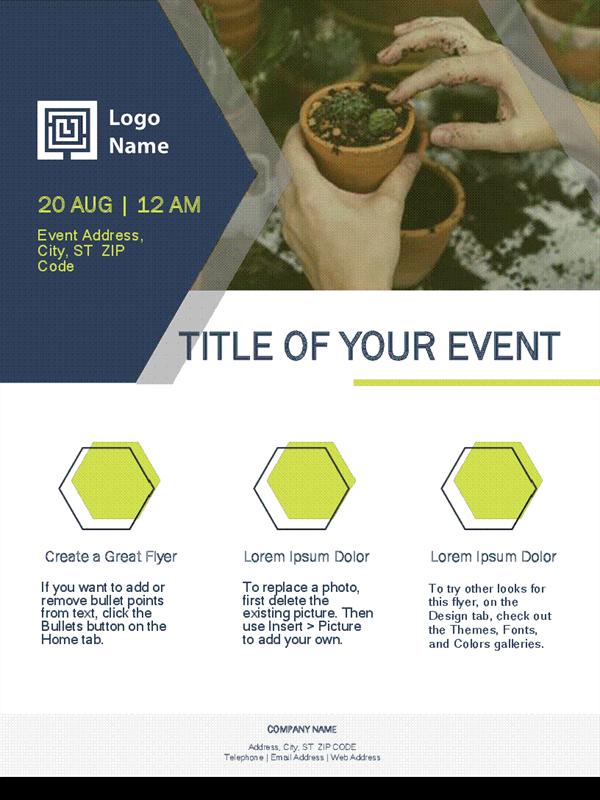 Small Business Flyer Green Design