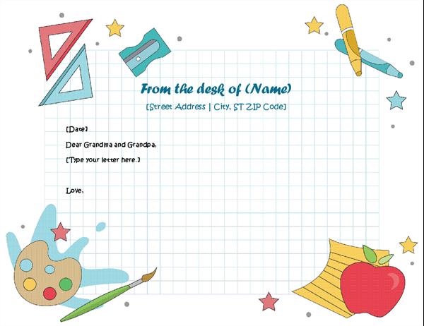 Letterhead for children