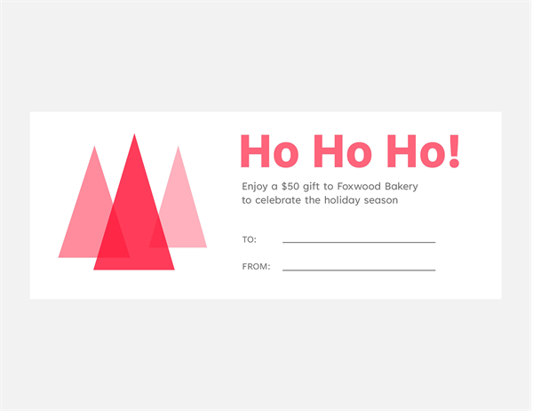 Holiday gift coupons (10 per page)