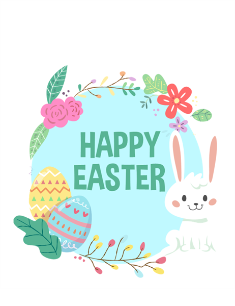 Happy Easter card (quarter-fold)