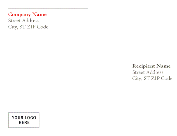 Envelope (Red design)