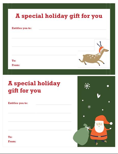 Christmas gift certificate (Christmas Spirit design)