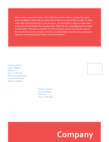 Tri-fold brochure (legal size)