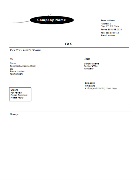 Fax cover sheet (Arc design)