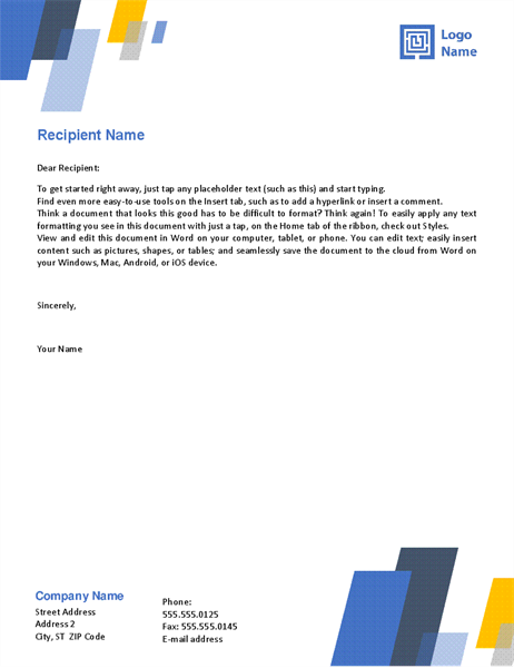 Letterhead (Bars design)