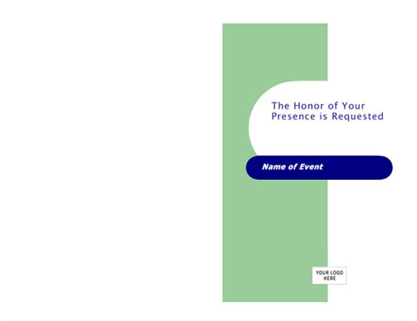 Invitation card (Capsules design, half-fold, A9 size)