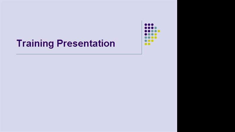 Training presentation