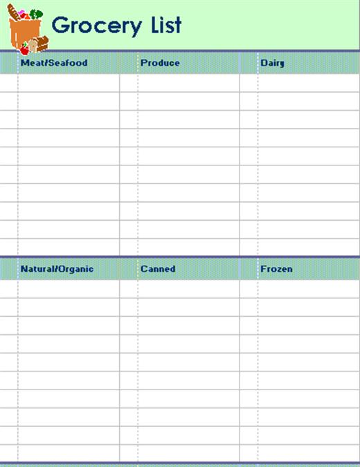 Liste des courses