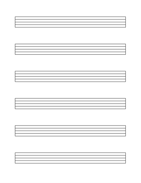 Large generic staff paper (6 per page)