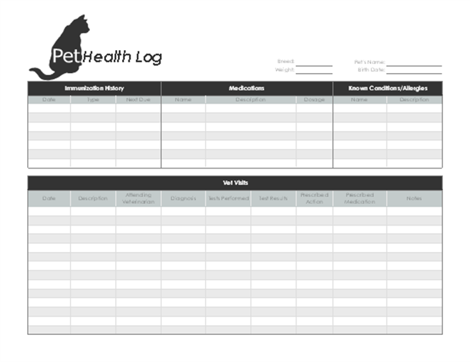 image regarding Puppy Health Record Printable referred to as Canine physical fitness log