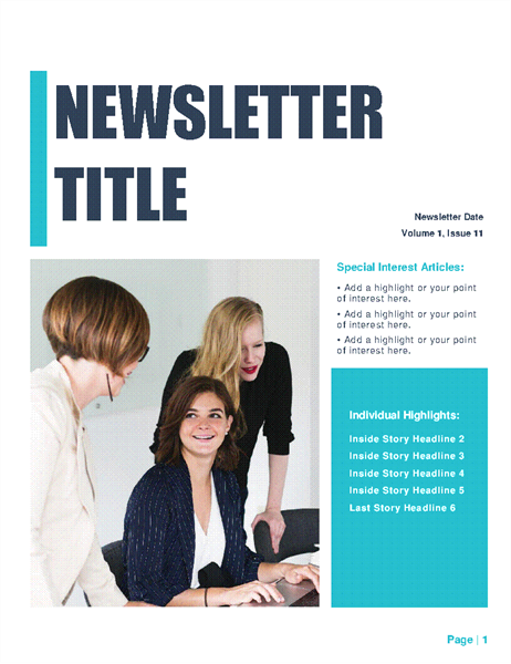 Newsletter (Simple design, 4-col., 6-pp.)