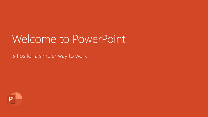 Welcome to PowerPoint 2016