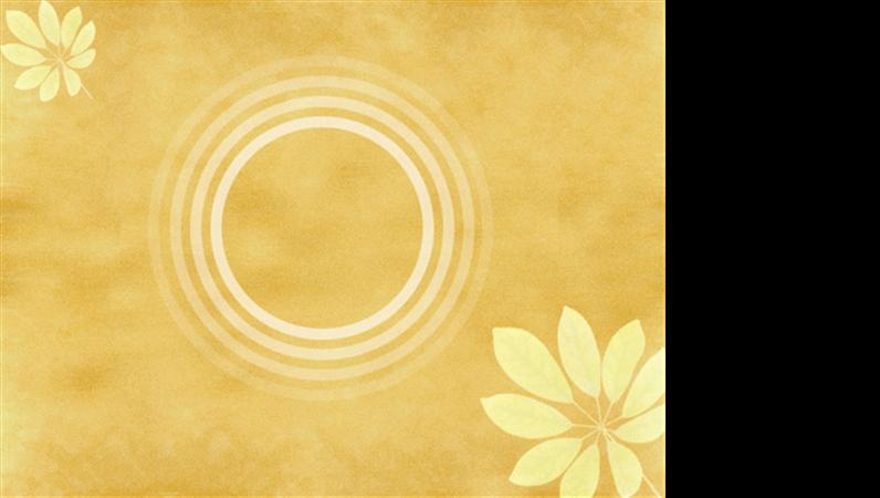 Modèle avec motif de mimosa