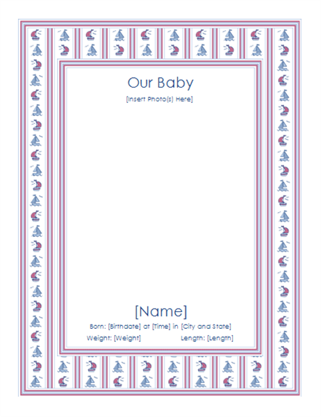 Baby's first year photo album (for boy)