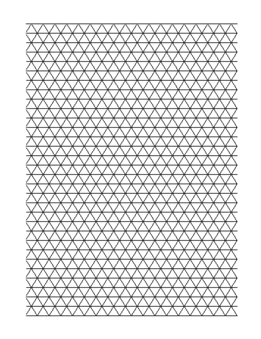 Triangular graph paper (big)
