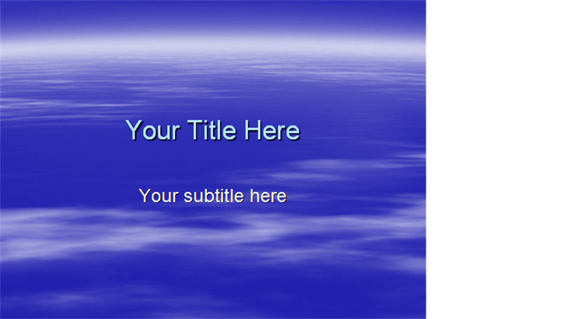 Clouds design template
