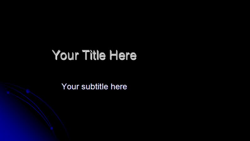 Orbit design template