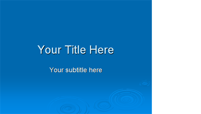 Ripple design template