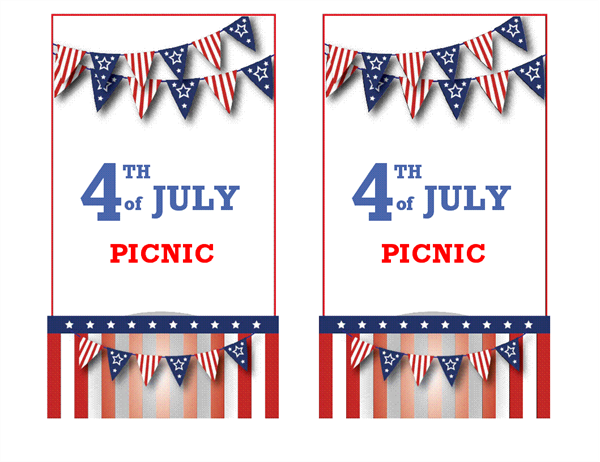 4th of July picnic invitation