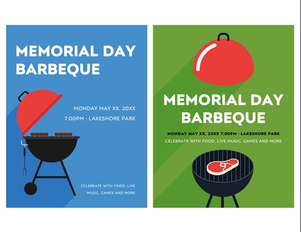 Memorial Day BBQ flyer