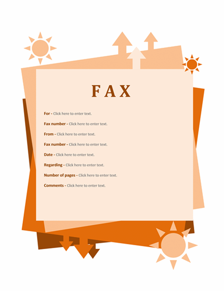 Fax cover sheet (Autumn)
