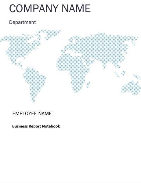 Business report notebook kit (cover, binder spine, divider tabs)