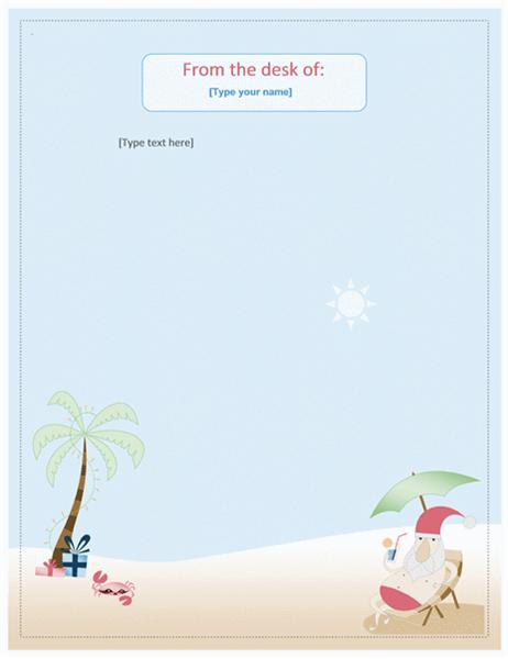 Stationery (Summer Santa design)