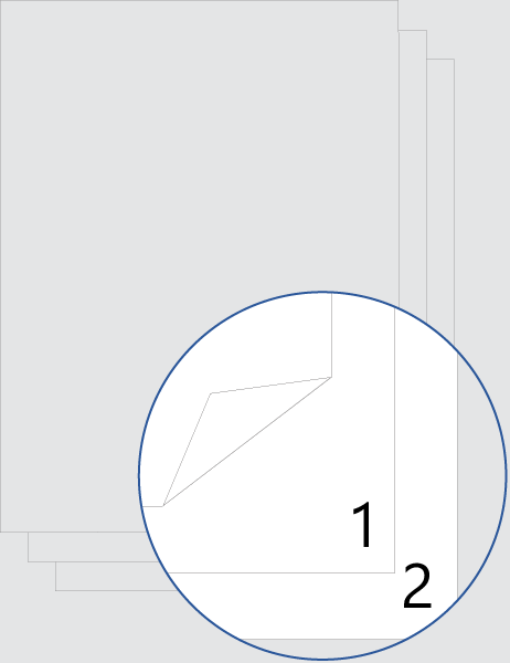 Double-sided cover-page numbering (bottom)