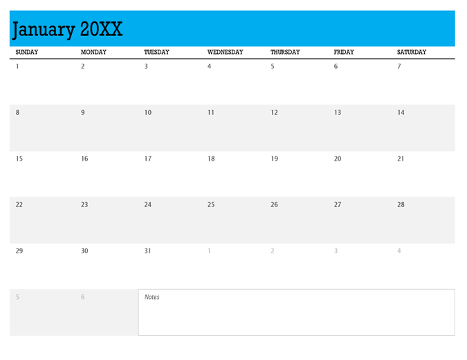 Any year calendar (1 month per tab)