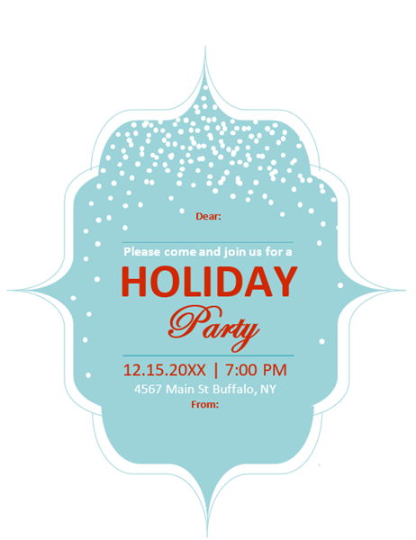 Elegant holiday invitation