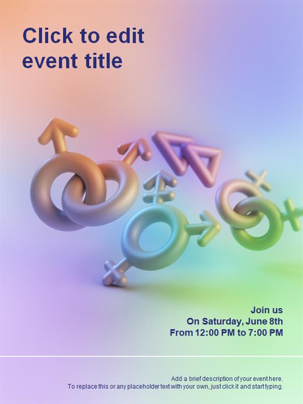 Pride symbol flyer