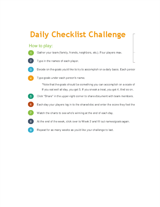 photo regarding Daily Goals Checklist named Everyday Listing Dilemma
