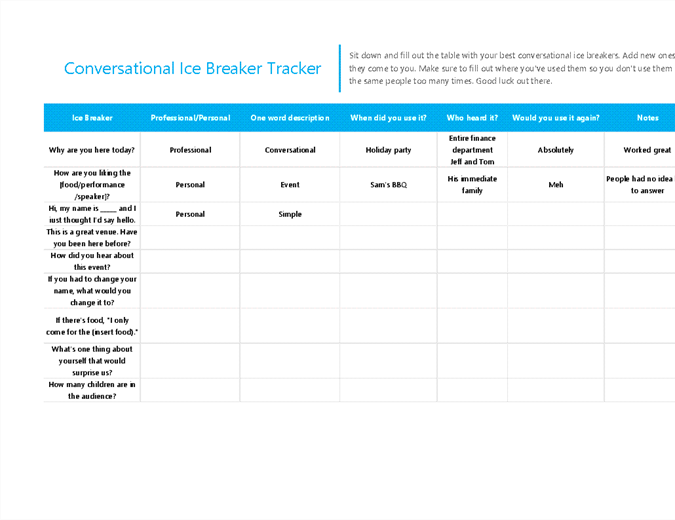 Ice Breakers Tracker