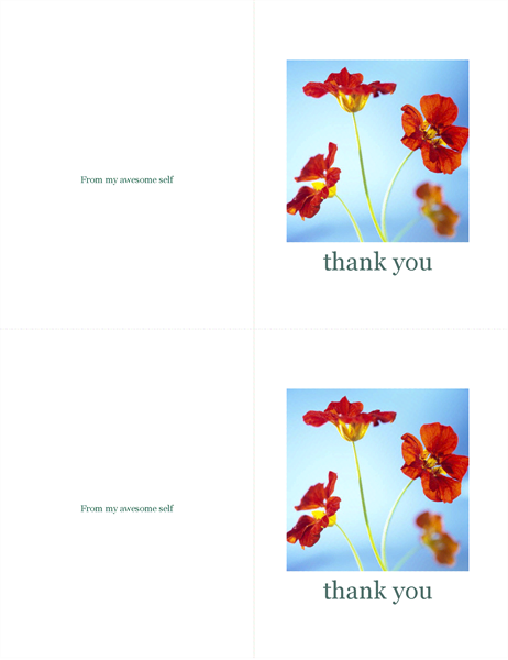 Thank you cards accessibility guide