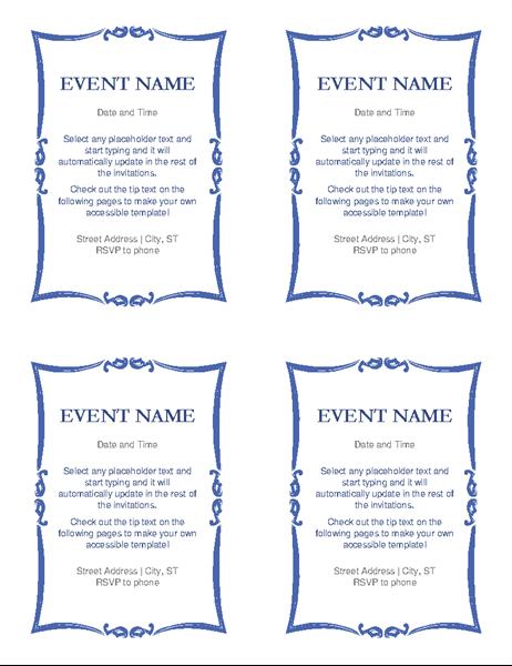 Event invitation accessibility guide