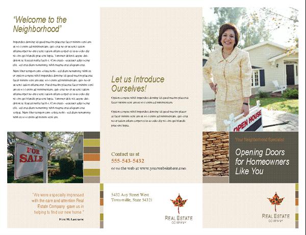 Real estate business brochure (tri-fold)