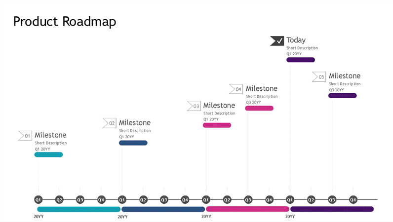 Roadmap timeline light