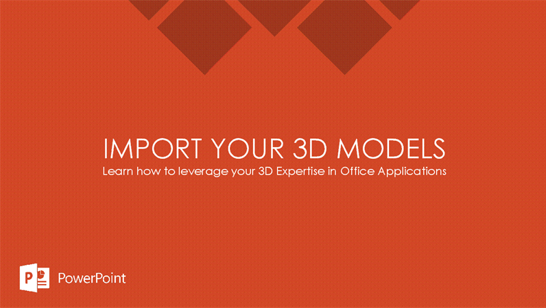 Import your 3D models