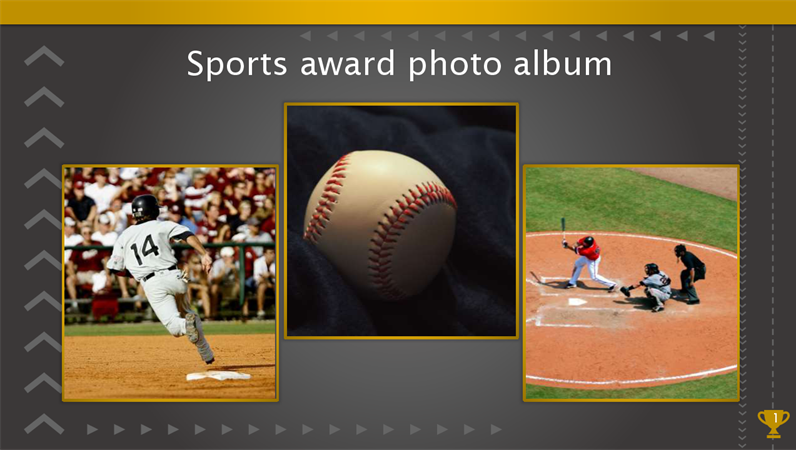 Sports award photo album