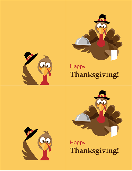 Cheerful turkey Thanksgiving card