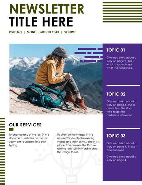 Travel newsletter