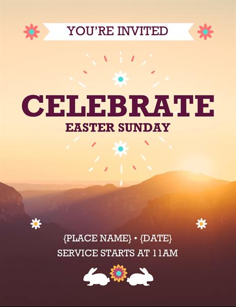 Sunrise Easter flyer