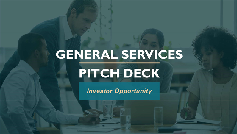 Professional services pitch deck