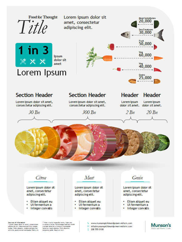 Food infographics poster