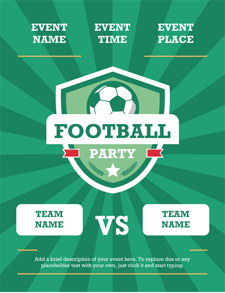 Football party flyer (international)