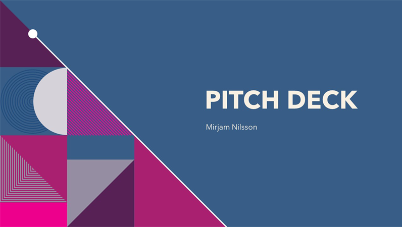 Colorful abstract pitch deck