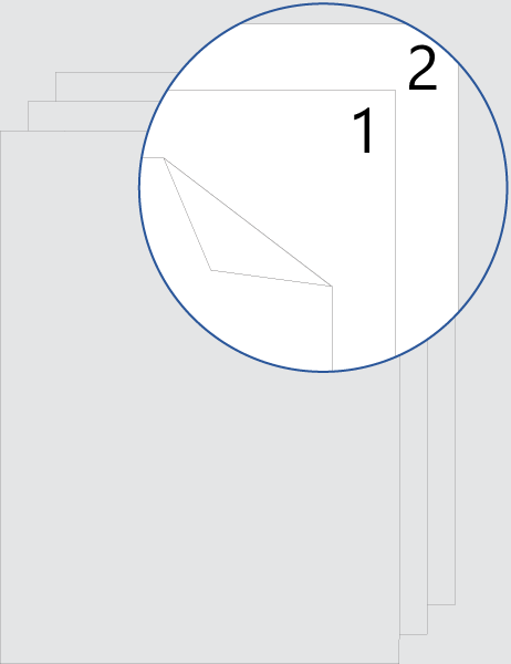 Double-sided cover-page numbering (top)