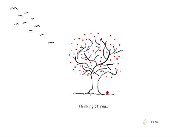 Tree sympathy card
