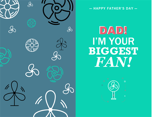 Dad's biggest fan Father's Day card